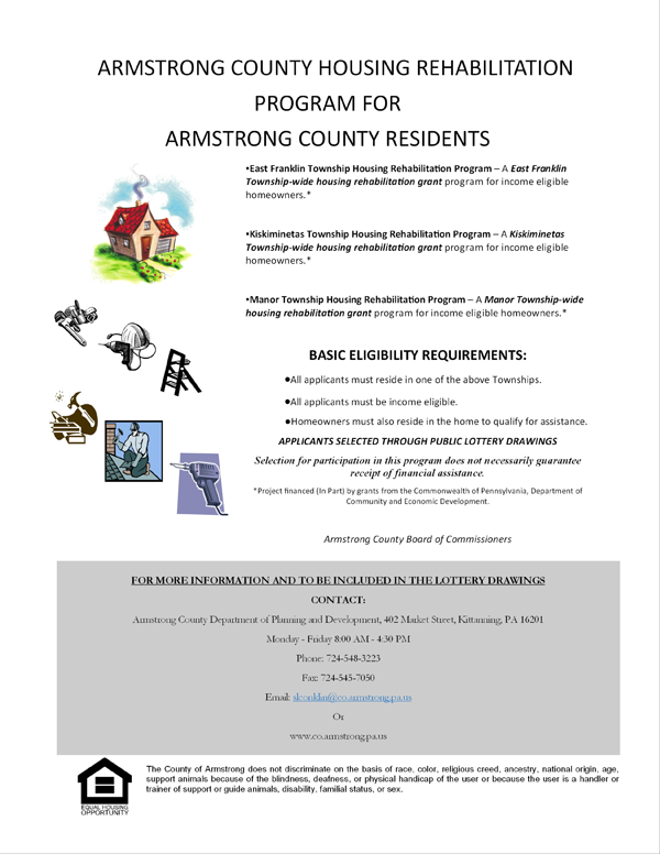 Armstrong County Housing Rehabilitation Program